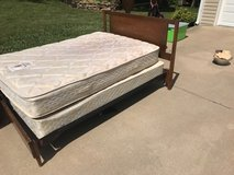 full size bed with mattress and box spring in Fort Leavenworth, Kansas