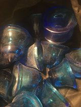 lot of vintage blue glass paperweights for crafts or upcycling in Chicago, Illinois