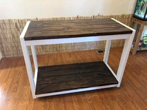 Handcrafted Farmstyle Rolling Kitchen Island/Buffet in Tacoma, Washington