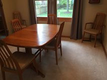 Scandinavian  Design Teak Dining Room Table and Chairs in Joliet, Illinois