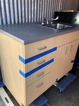 Medical cabinet with sink , 5 shelves . 44 inch long in Lockport, Illinois