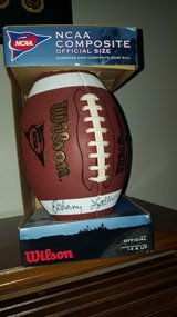 Johnny Lattner signed Football in Yorkville, Illinois