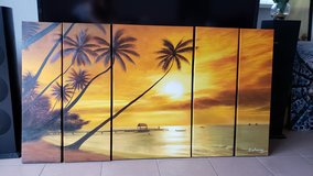 5 pieces canvas wall art sunset style in Ramstein, Germany