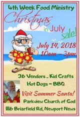 Christmas in July in Fort Eustis, Virginia