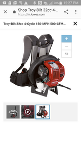 Troy-Bilt Backpack Blower in Spring, Texas