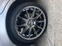 Chrome aftermarket rims w/tires in Leesville, Louisiana