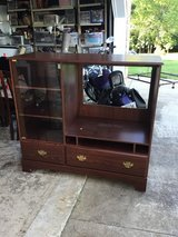 Mahogany TV Stad w/Glass Doors in Fort Campbell, Kentucky