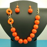 ORANGE  BESDED SET- NEW in Pearland, Texas