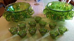 Carnival glass punch bowls (2) w/ 33 cups in Perry, Georgia