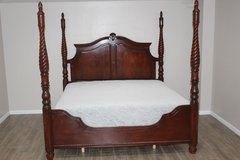 King Wood bed with Mattress in Spring, Texas