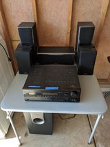 ONKYO HT-R550 Surround Sound Receiver and Speakers. (9 pieces) in Yorkville, Illinois