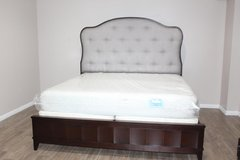 King Tufted Bed (including mattress) in Spring, Texas