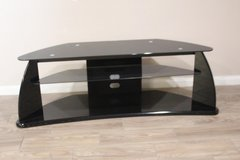 Modern Glass TV Stand/ Black in Spring, Texas