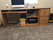Pine Desk and 2 Drawer File Cabinet in Fort Lewis, Washington