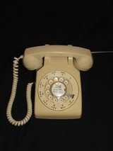 Classic ITT Rotary Telephone Beige Western Electric Bell System Model 500 in Naperville, Illinois