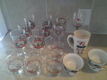 Assortment Christmas Glassware (20 pieces) in Livingston, Texas