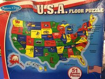 USA Floor Puzzle Melissa and Doug in Eglin AFB, Florida