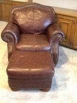 Leather living room set (Couch, loveseat, chair, ottoman) in Kingwood, Texas
