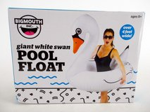 NEW Big Mouth Inc. Giant 4ft White Swan Novelty Pool Float Inflatable Raft Tube in Morris, Illinois