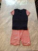 Girls GAP 4th of July Summer Pajamas (red,white and blue) Size 8-10 in Naperville, Illinois