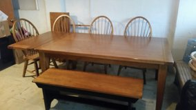 Dining Set Solid Oak in Chicago, Illinois