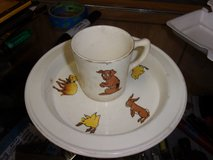 Child's Cup and Bowl Set in Fort Riley, Kansas