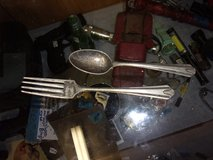 Child's Silver Fork and Spoon Set in Fort Riley, Kansas