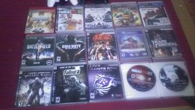 PS3 with 2 controllers and 16 games all like new. in Fort Polk, Louisiana