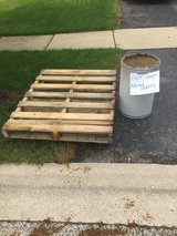 sand - free container almost half full in St. Charles, Illinois
