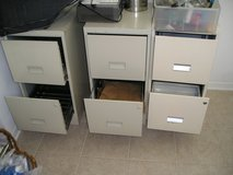 2 - TWO DRAWER METAL FILE CABINETS (2 for $10) in Oswego, Illinois
