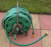 "Hozelock Hose Reel with approximately 100 ft of ¾"" hose. in Lakenheath, UK"