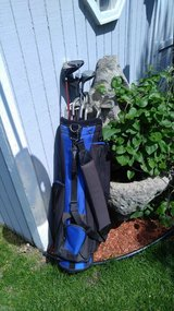 Full set left handed golf clubs with bag in Orland Park, Illinois