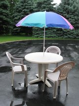 Patio Table , Chairs and Umbrella in Naperville, Illinois