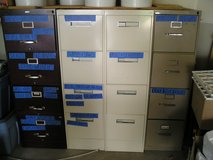 4 - FOUR DRAWER METAL FILING CABINETS in Oswego, Illinois