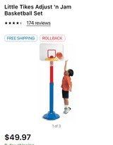Little Tykes Adjust 'n Jam Basketball Set in Cherry Point, North Carolina