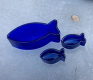 Set of 3 Cobalt Blue Fish Bowls in Hinesville, Georgia
