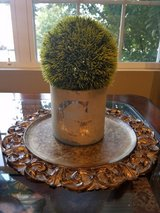 Pair of decorative chargers plates candle holders in Aurora, Illinois