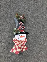 Metal Snowman Decoration in Joliet, Illinois