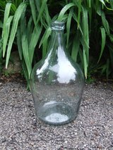 Antique Oversized Wine Bottle ~ Hand Blown ~ Circa 1830 - 1.5 gallons Greenish Blue Tint in Lockport, Illinois