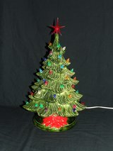 Vintage Ceramic Christmas Tree / Music Box ~ Plays Frosty The Snowman ~ Unique in Lockport, Illinois