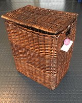 New- Rectangular Wicker Laundry Hamper in Naperville, Illinois