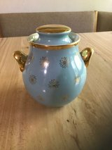 Vintage Hall's Blue with Gold painted Cookie Jar in Schaumburg, Illinois