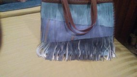 Stevin Large Muliti Color Blue Sweade Tote Handbag in Livingston, Texas