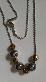 """Silver 925 Milor Italy 18"""" Ball Bead Necklace with Disco Beads in Lawton, Oklahoma"""
