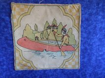 Folk Art Fabric pieces - Indian in Canoe and Mexican folk art Potholders in Chicago, Illinois