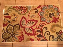 NEW 30x40 Mohawk Rug - Floral (red, coppers, blue colors) in Baytown, Texas