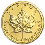 2009 Canada 1/10 oz Gold Maple Leaf BU in Leesville, Louisiana