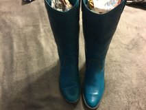 Womens Soft Leather Cowboy Boots Turquoise in Fairfield, California