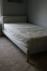 Upholstered Ikea Twin bed in Elgin, Illinois