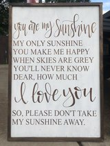 """""""You are my sunshine"""" wooden sign/wall art in Byron, Georgia"""